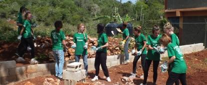 An area being cleared for construction as part of building volunteer work in Jamaica with a group.